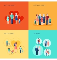 Set Of 2x2 Design Family vector image
