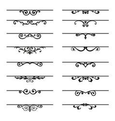 Set of decorative florish elements vector