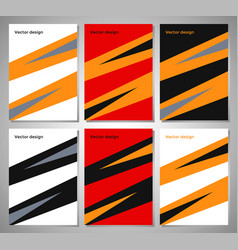 set of posters with flat geometric pattern vector image