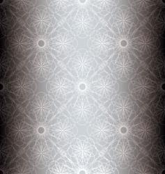 silver floral spiral background vector image