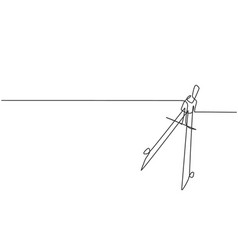 Single continuous line drawing springbow vector