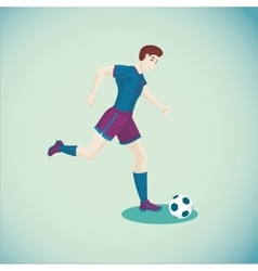 Soccer player Isolated cartoon character Sport vector image