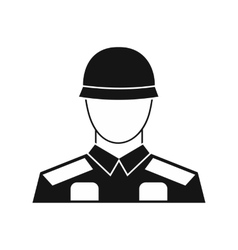 Soldier icon in simple style vector