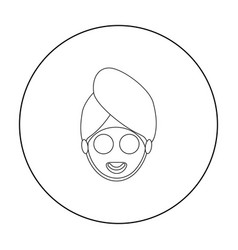 Spa mask icon of for web and vector