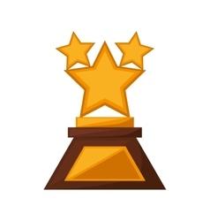 Stars trophy awards golden vector