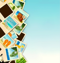 Travel Background With Photos From Holidays On A vector