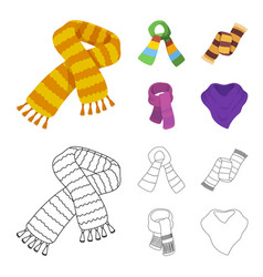 Various kinds of scarves scarves and shawls vector