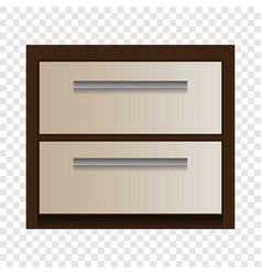 wood drawer mockup realistic style vector image