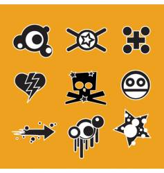 crazy graphics vector image vector image