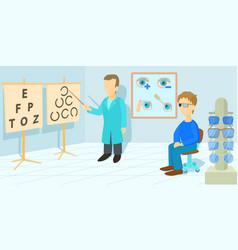 vision correction horizontal banner cartoon style vector image