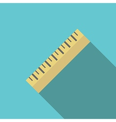 Yellow ruler on blue vector image vector image