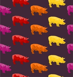 Abstract triangular pig vector image vector image