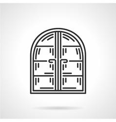 Arc window black line icon vector image vector image