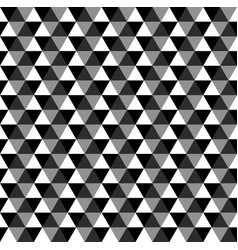 black geometric seamless pattern of triangles vector image vector image
