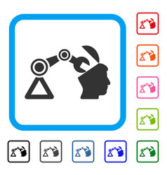 open head surgery manipulator framed icon vector image vector image