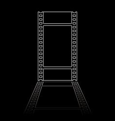 simple film reel illustration vector image vector image