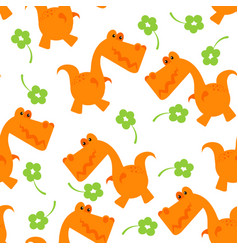 t-rex pattern vector image