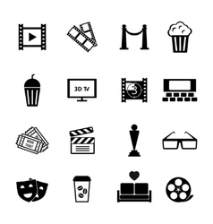 Black and White Movie Icon Designs vector image vector image