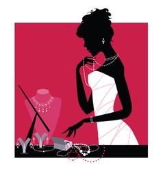 jewelery shop vector image vector image