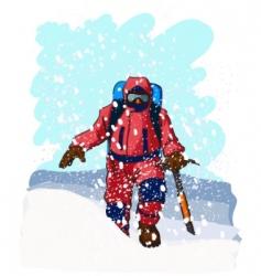 mountain climbers vector image