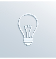 paper bulb vector image vector image