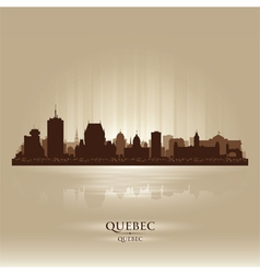 Quebec Canada skyline city silhouette vector image vector image
