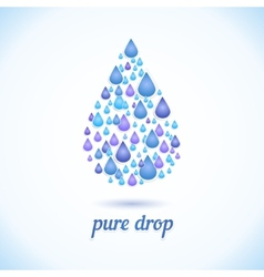 water drop with shadow vector image vector image