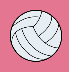 white volleyball volleyball icon on pink vector image