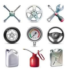 Car service tools icon set vector image vector image