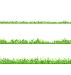 Green Grass Flat Horizontal Banners Set vector image vector image