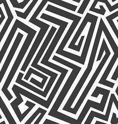 monochrome maze seamless pattern vector image vector image