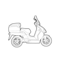 outline bike vector image vector image
