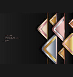 abstract modern luxury style geometric golden vector image