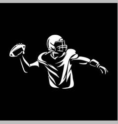 American football throwing ball vector