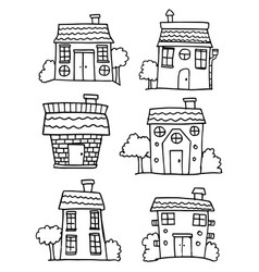 Art of house style set vector