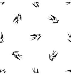 barn swallow pattern seamless black vector image