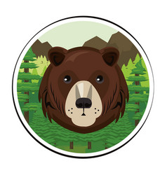 Bears face cool sketch vector