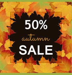 big autumn sale design vector image