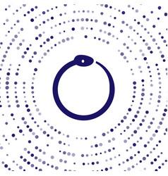 Blue magic symbol ouroboros icon isolated vector