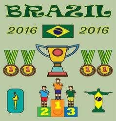 Brazil 2016 sport infographics Digital image vector image