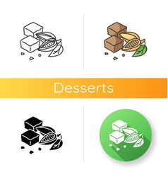brownies icon vector image