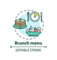 brunch menu concept icon vector image