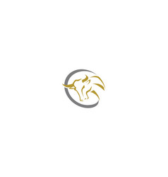 bull logo icon vector image