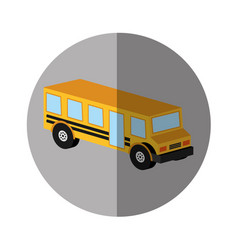 bus school isometric icon vector image