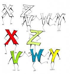 Cartoon alphabet vector