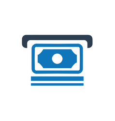 Cash out icon vector