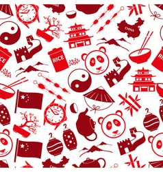 China theme color icons seamless pattern eps10 vector