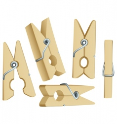clothes pins vector image