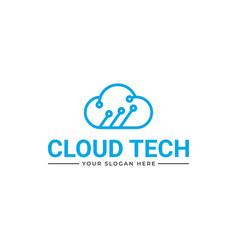 Cloud tech logo cloud tech logo vector