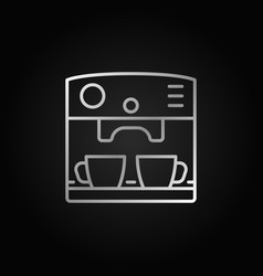 coffee maker machine silver outline icon vector image